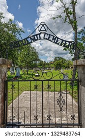 St Augustine, FL - June 15, 2018: The Hugenot Cemetery is the first cemetery in Saint Augustine for non Catholic civilians.
