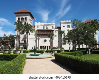 St. Augustine, FL - September 26:  the historic hotel is one of the oldest in the United States.  First opened in 1888, it is Moorish Revival and Spanish Baroque Revival architectural style.