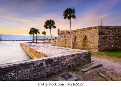 St. Augustine, Florida at the Castillo de San Marcos National Monument.