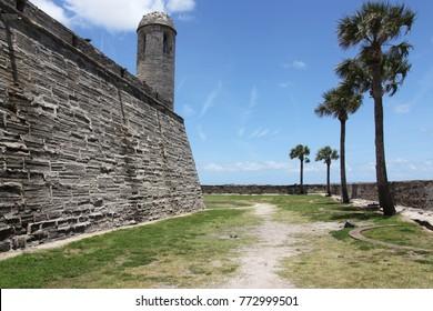 St. Augustine, Florida, USA – 10/11/2017: Castillo de San Marcos