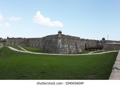 St. Augustine, Florida, USA – 12/11/2017: Castillo de San Marcos