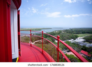 St. Augustine, Florida, U.S.A., April 3, 2017, View from the top of the St. Augustine Lighthouse on a sunny day.