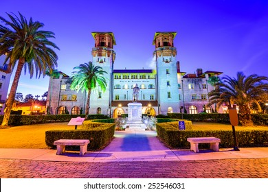 St. Augustine, Florida, USA at  City Hall and Alcazar Plaza.