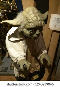 St. Augustine, Florida / USA - July 2, 2016. Yoda wax figure at Potter's Wax Museum.