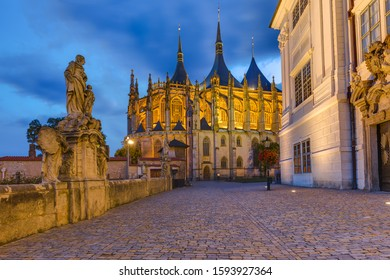 St Barbara church in town Kutna Hora - Czech Republic - travel and architecture background - Shutterstock ID 1593927364