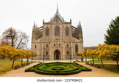 St. Barbara's Church at the autumn time in Kutná Hora Czech Republic