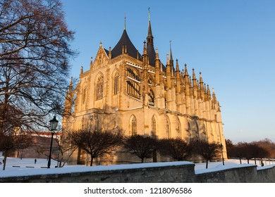 St. Barbara's Church in Kutna Hora. Kutna Hora, Central Bohemian Region, Czech Republic.