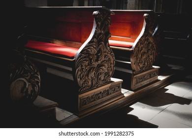 St. Barbara's Church, Kutna Hora, Czech Republic - bench - Shutterstock ID 1991282375