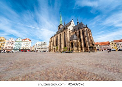 St. Bartholomew Cathedral in Pilsen. Czech Republic.