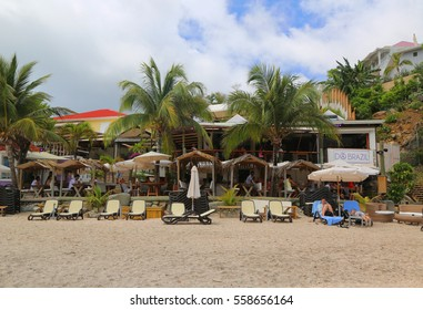 ST BARTS, FRENCH WEST INDIES - June 12, 2015: Do Brazil restaurant at Shell Beach at St Barts. The island is popular tourist destination during the winter holiday season
