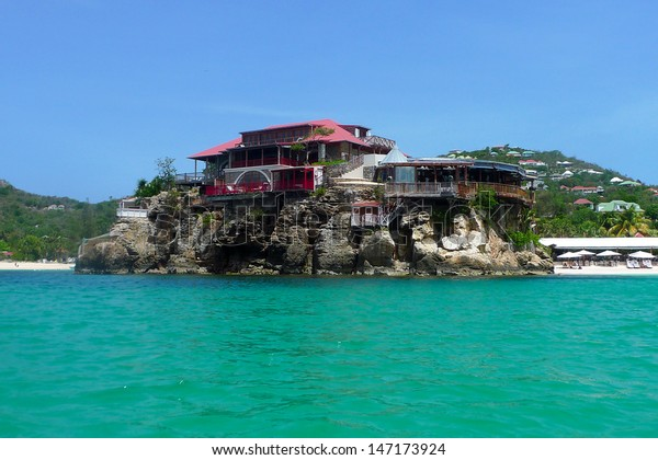 ST BARTS,FRENCH WEST INDIES - JUNE 13: The beautiful Eden Rock hotel on June 13, 2009 in St Barts, French West Indies.Eden Rock St Barts is one of the Top 100 hotels in the world