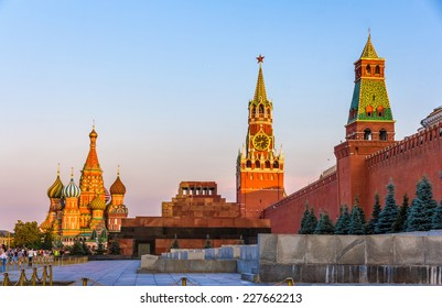 St. Basil Cathedral, Mausoleum of Lenin and Kremlin - Moscow