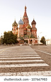 St. basil cathedral in Moscow at early morning