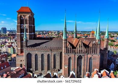 St Maryâ??s Basilica in Gdansk, Poland
