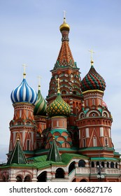 St Basil's Cathedral, icon of Russia is found on Red Square in Moscow