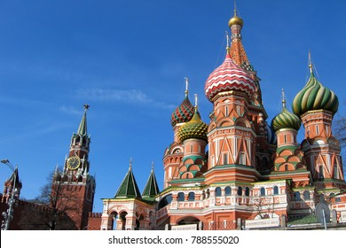 St. Basil's Cathedral and Kremlin in Moscow, Russia