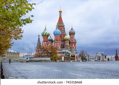 St. Basil's Cathedral in Moscow.  St. Basil's Cathedral is one of the most beautiful and ancient churches in Moscow, the most important decoration of Red Square.