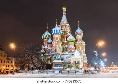 St. Basil's Cathedral in Moscow in winter