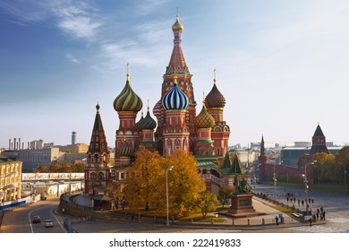 St. Basil's Cathedral on Red square. Russia