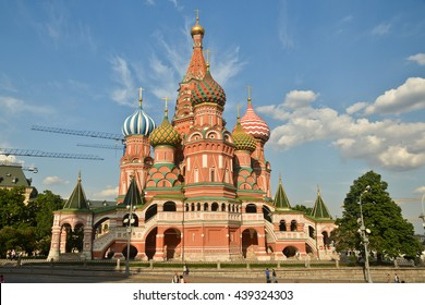 St. Basil's Cathedral on red Square in Moscow - the world cultural heritage of UNESCO.
