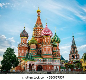 St Basils cathedral on Red Square in Moscow. Russia.
