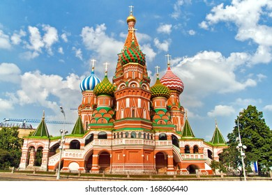 St. Basil's Cathedral side view, in Red Square, Moscow, Russia