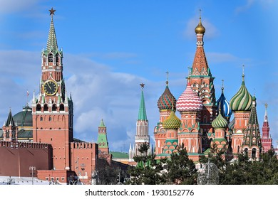 St. Basil's Cathedral. Temple on Red Square in Moscow.