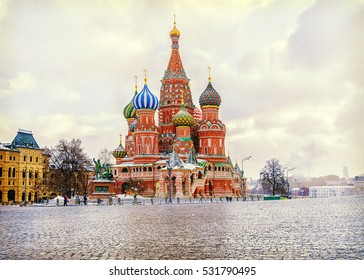 St. Basil's Cathedral winter view