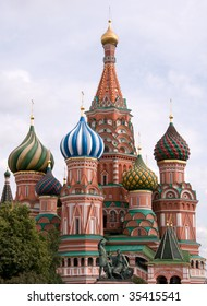 St. Basil`s church in Moscow