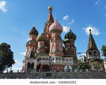 St. Basil's Church on Red Square in Moskow.