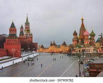 St. Basil's Descent Square (Vasilyevsky Spusk) in Moscow.