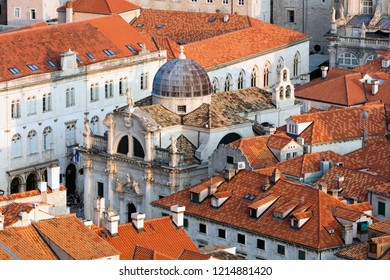 St Blaise's Church in Dubrovnik, Croatia, built in 1715 in the ornate baroque style
