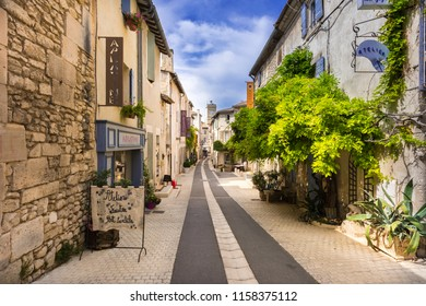 St Rémy, Buches du Rhone, France, 25.06.2018. Street in historic city center of St Remy de Provence.