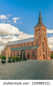 St. Canute's Cathedral. Odense. Denmark. Odense is the birth place of Hans Christian Andersen