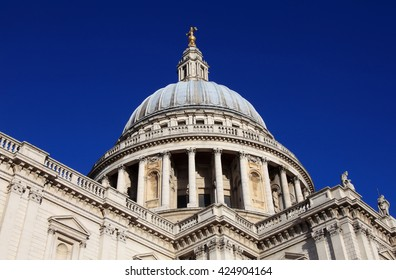 St Paulâ??s Cathedral built after The Great Fire Of London of 1666