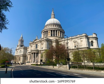 St Paul's Cathedral during the London Covid-19 debacle