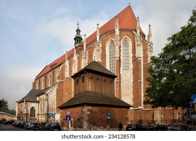 St. Catherine Church in Krakow, Poland. Gothic style 14th century architecture.
