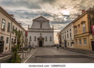St. Catherine's Church in Zagreb Croatia