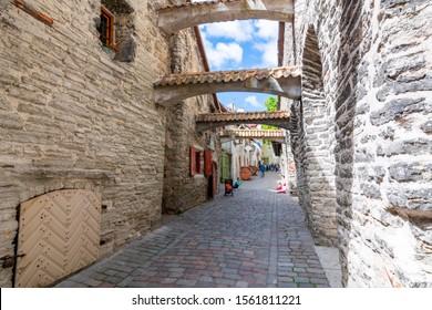St. Catherine`s Passage in Tallinn Old town, Estonia