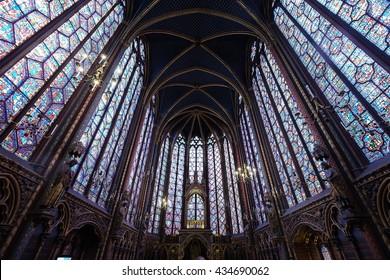 St Chapel, Paris, France on April ,2016