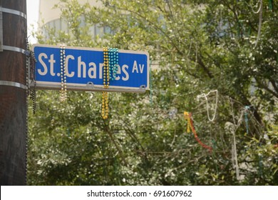 St Charles Avenue Street Sign