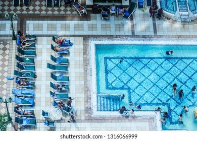 St Charles, Missouri, USA, Swimming Pool, Ameristar Casino Resort Spa, May 25, 2015