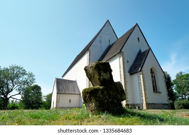 St. Catherine´s Church from 13th century in Muhumaa Island, Estonia.