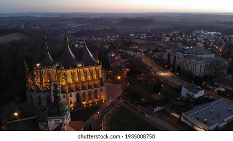 St Barbara's Church in Kutná Hora in the evening - Shutterstock ID 1935008750