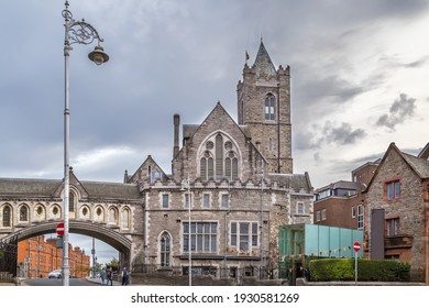 St Michael's Church (Synod Hall) dating from the 12th Century, Dublin, Ireland