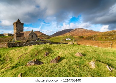 St Clement's Church in Rodel on the Isle of Harris in the Western Isles in Scotland