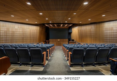 ST. CLOUD, MINNESOTA - NOVEMBER 20: Ringsmuth Family Auditorium in the Miller Learning Resources Center on the campus of St. Cloud State University on November 20, 2015 in St. Cloud, Minnesota