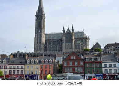 St Colman's Cathedral above cobh town in county cork ireland