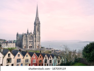 St. Colman's Cathedral, Cobh at Sunset