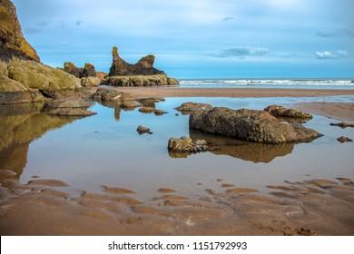 St Cyrus beach. Aberdeenshire, Scotland, United Kingdom